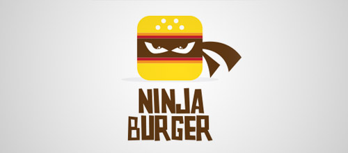 ninja burger logo design