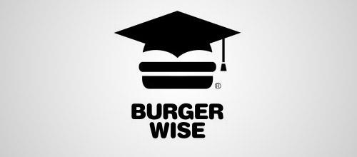 burgerwise logo design