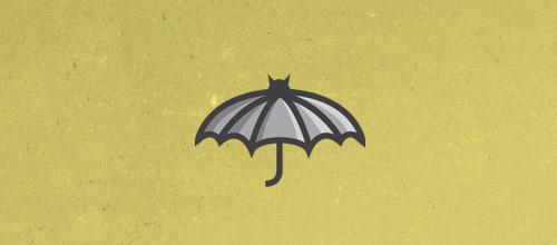umbrella bat logo design