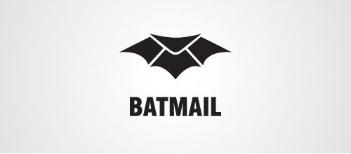 bat mail logo design