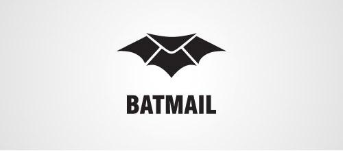 bat mail logo design