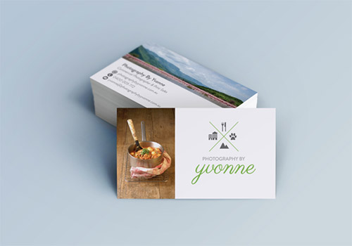 food photography business card