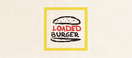 loaded burger logo design