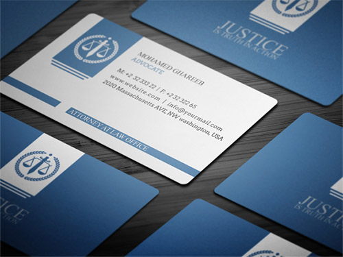 blue attorney business card