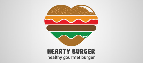 heart burger logo design