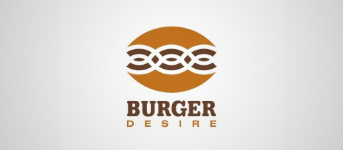 burger desire logo design