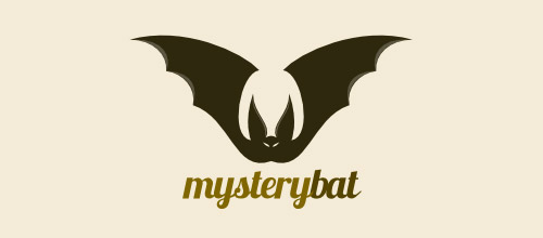 mystery logo design bat