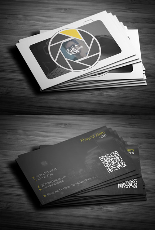 awesome business card photography