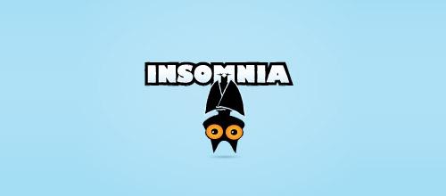 insomnia bat logo design