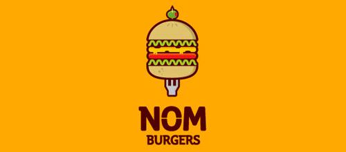 nom burgers logo design