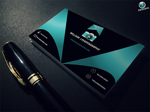 professional photography business card design