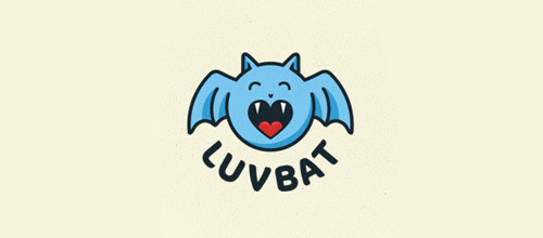 cute bat logo design