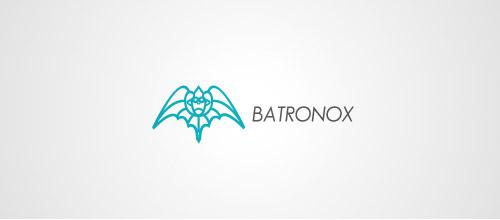 batronox logo design bats