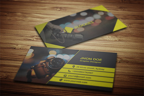 template business card photography