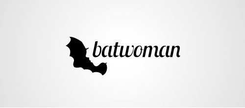 bat woman logo design