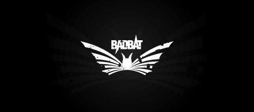 grunge bat logo design