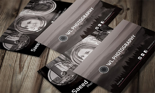business card for photography