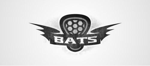 bat lacrosse logo design