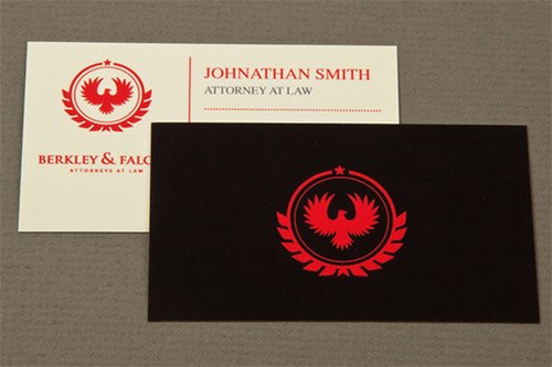 professional law business card