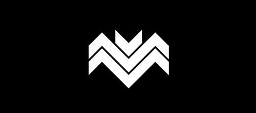 minimal bat logo design