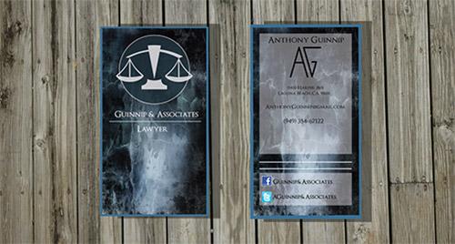 nice lawyer business card