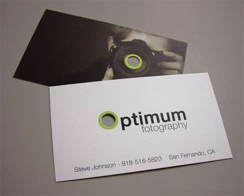 optimum photography business card