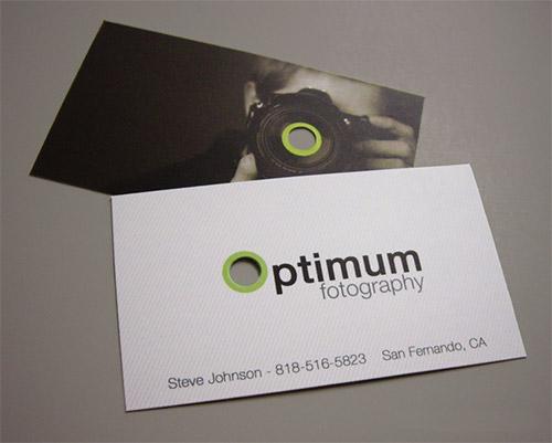 optimum photography business card