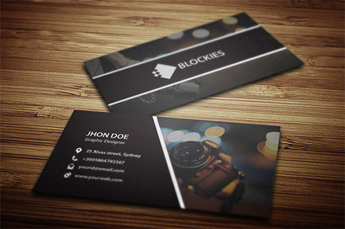 bokeh photography business card