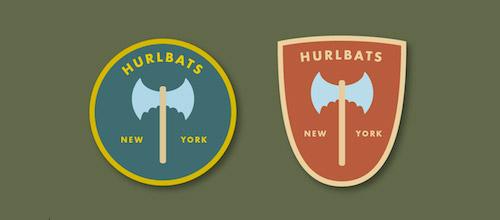 hurlbats bats logo design