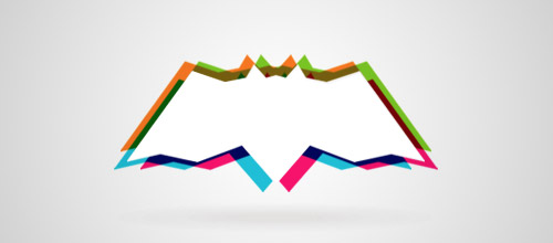 colorful bat logo design