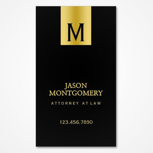 gold lawyer business card
