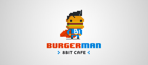 super burger logo design