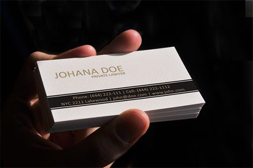 clean lawyer business card
