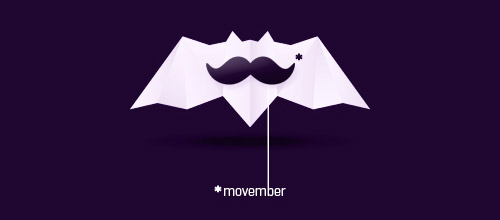 movember bat logo design