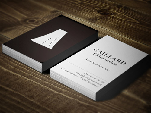 brown lawyer business card