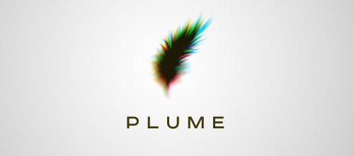 plume leather logo