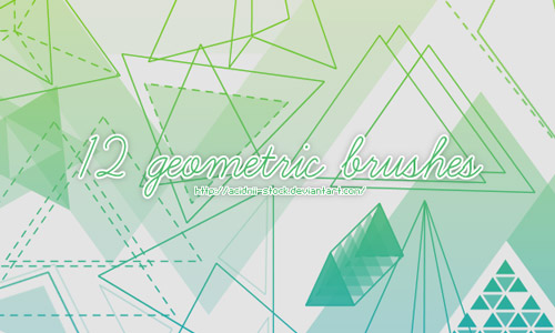 geometric brushes photoshop