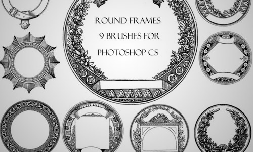 round frames brushes