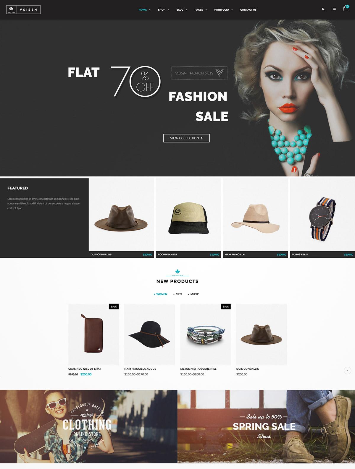 ecommerce fashion theme