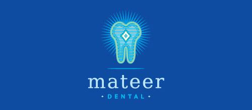 mateer tooth logo design