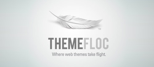 theme feather logo design