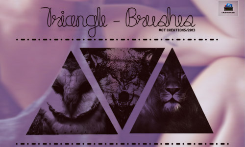 photoshop brushes triangle