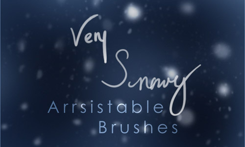 very snowy brushes