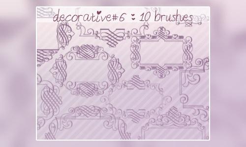 decorative frame brushes free