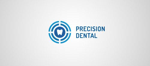 target tooth logo design