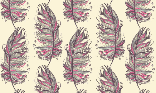 cool free feather patterns