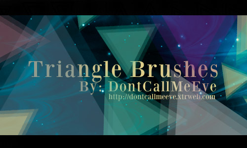 triangle brushes photoshop