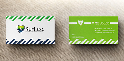 green medical business cards