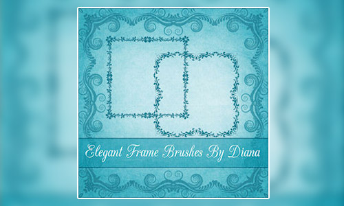 elegant frames brushes