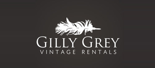 gilly grey feather logo